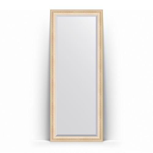 Зеркало напольное с фацетом в багетной раме - старый гипс 82 mm BY 6110
