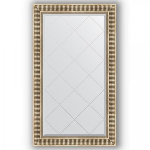 Зеркало с гравировкой в багетной раме - серебряный акведук 93 mm BY 4239