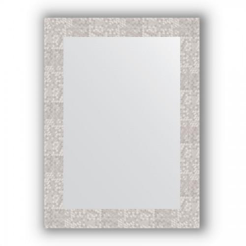 Зеркало в багетной раме - соты алюминий 70 mm BY 3051