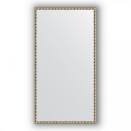 Зеркало в багетной раме - витое серебро 28 mm BY 0742