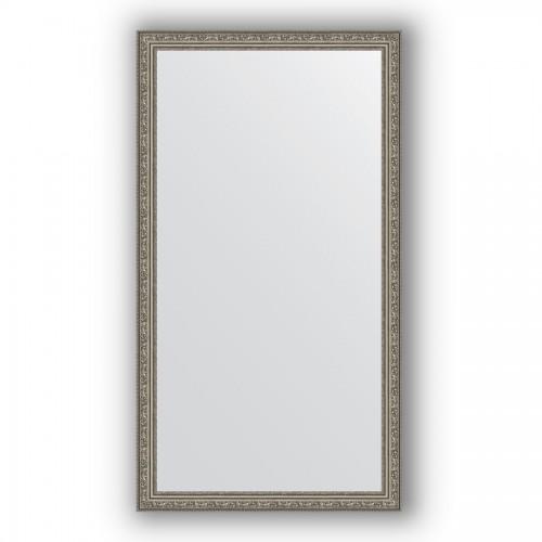 Зеркало в багетной раме - виньетка состаренное серебро 56 mm BY 3296