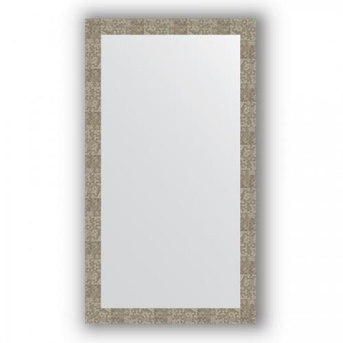 Зеркало в багетной раме - соты титан 70 mm BY 3308
