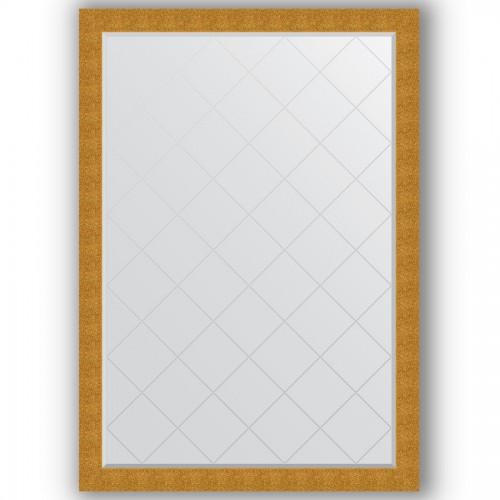 Зеркало с гравировкой в багетной раме - чеканка золотая 90 mm BY 4495