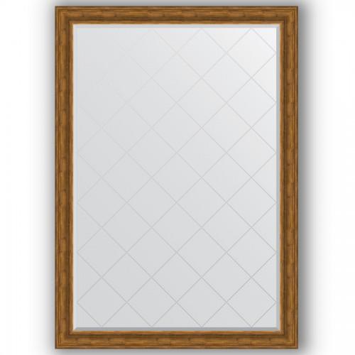 Зеркало с гравировкой в багетной раме - травленая бронза 99 mm BY 4505