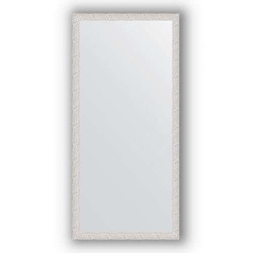 Зеркало в багетной раме - чеканка белая 46 mm BY 3322