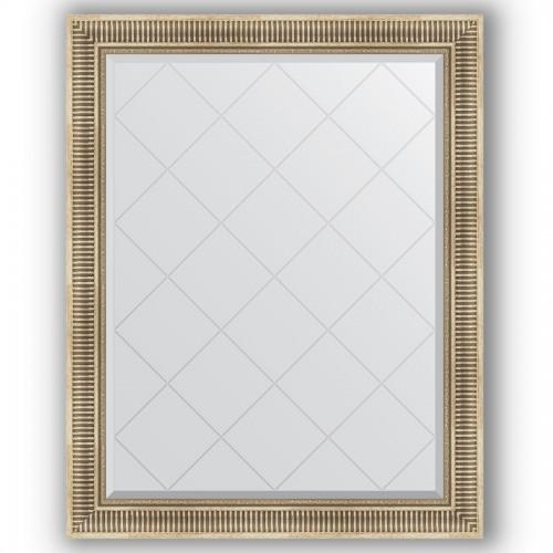 Зеркало с гравировкой в багетной раме - серебряный акведук 93 mm BY 4368