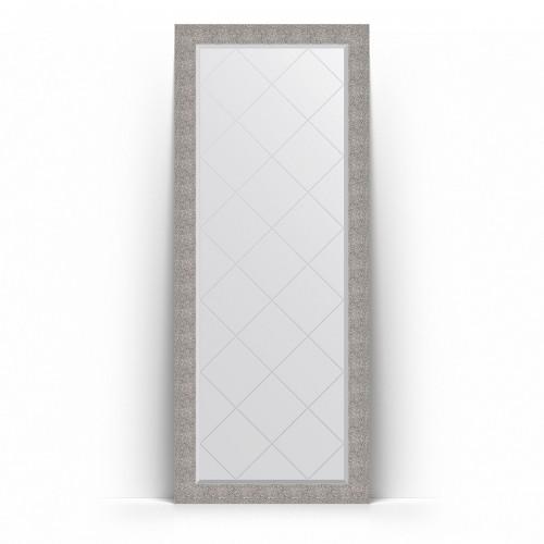Зеркало напольное с гравировкой в багетной раме - чеканка серебряная 90 mm BY 6383
