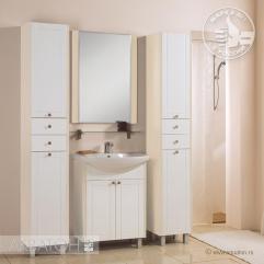 Комплект мебели для ванной Акватон Альпина 65 белый/дуб молочный
