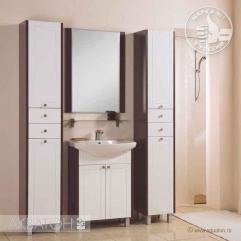 Комплект мебели для ванной Акватон Альпина 65 белый/венге