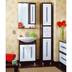 Комплект мебели для ванной Бриклаер Бали 60 белый/венге