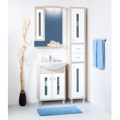 Комплект мебели для ванной Бриклаер Бали 60 cветлая лиственница
