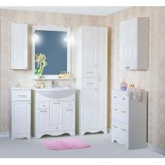 Комплект мебели для ванной Бриклаер Анна 75 белый