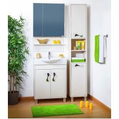 Комплект мебели для ванной Бриклаер Аргентина 65 светлая лиственница