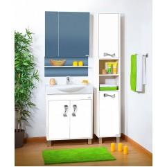 Комплект мебели для ванной Бриклаер Аргентина 75 белый