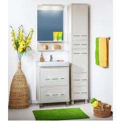 Комплект мебели для ванной Бриклаер Чили 60 светлая лиственница