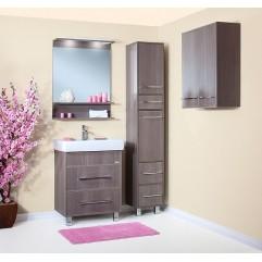 Комплект мебели для ванной Бриклаер Чили 70 серая лиственница