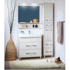 Комплект мебели для ванной Бриклаер Чили 70 светлая лиственница