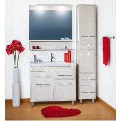Комплект мебели для ванной Бриклаер Чили 90 светлая лиственница