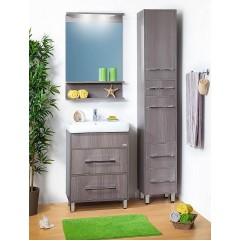 Комплект мебели для ванной Бриклаер Чили 60 серая лиственница