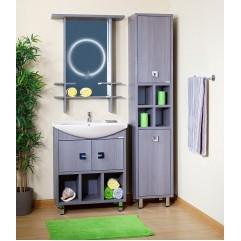 Комплект мебели для ванной Бриклаер Хоккайдо 75 серая лиственница