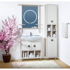 Комплект мебели для ванной Бриклаер Хоккайдо 75 светлая лиственница