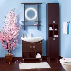 Комплект мебели для ванной Бриклаер Хоккайдо 75 венге