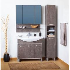 Комплект мебели для ванной Бриклаер Карибы 100 сатин/дуб антик