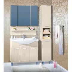 Комплект мебели для ванной Бриклаер Карибы 100 светлая лиственница