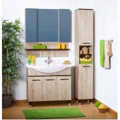 Комплект мебели для ванной Бриклаер Карибы 100 дуб кантри/венге