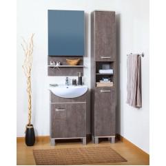 Комплект мебели для ванной Бриклаер Карибы 50 сатин/дуб антик