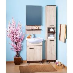 Комплект мебели для ванной Бриклаер Карибы 50 дуб кантри/венге