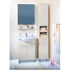 Комплект мебели для ванной Бриклаер Карибы 60 светлая лиственница