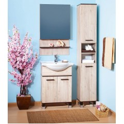 Комплект мебели для ванной Бриклаер Карибы 60 дуб кантри/венге