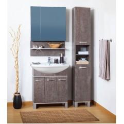 Комплект мебели для ванной Бриклаер Карибы 75 сатин/дуб антик