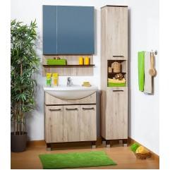 Комплект мебели для ванной Бриклаер Карибы 75 дуб кантри/венге