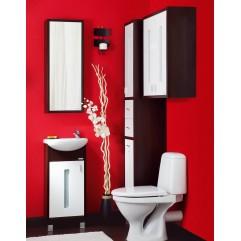 Комплект мебели для ванной Бриклаер Бали 40 белый/венге