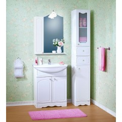 Комплект мебели для ванной Бриклаер Лючия 70 белый