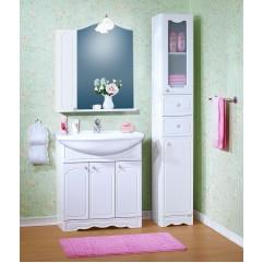 Комплект мебели для ванной Бриклаер Лючия 80 со шкафчиком белый