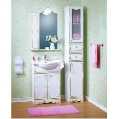 Комплект мебели для ванной Бриклаер Лючия 60 белый с золотом