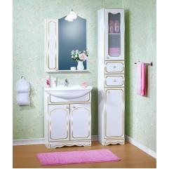 Комплект мебели для ванной Бриклаер Лючия 70 белый с золотом