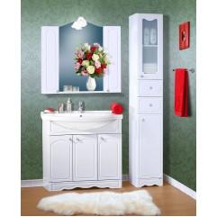 Комплект мебели для ванной Бриклаер Лючия 90 белый
