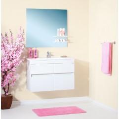 Комплект мебели для ванной Бриклаер Мадрид 85 белый