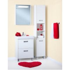Комплект мебели для ванной Бриклаер Палермо 60 белый