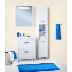 Комплект мебели для ванной Бриклаер Палермо 70 белый
