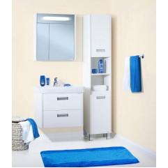 Комплект мебели для ванной Бриклаер Палермо 70 подвесной белый