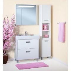 Комплект мебели для ванной Бриклаер Палермо 80 белый