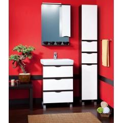 Комплект мебели для ванной Бриклаер Токио 60 белый/венге