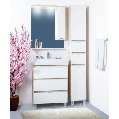 Комплект мебели для ванной Бриклаер Токио 70 светлая лиственница