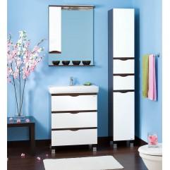 Комплект мебели для ванной Бриклаер Токио 70 белый/венге