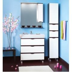 Комплект мебели для ванной Бриклаер Токио 80 белый/венге